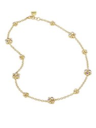 Temple St. Clair Diamond And Blue Moonstone Trio Necklace Yellow Gold