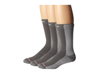 Drymax Sport Cold Weather Run Crew 3 Pair Pack Gray Crew Cut Socks Shoes