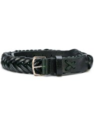 Golden Goose Deluxe Brand Classic Woven Belt Leather Green