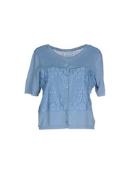 Scee By Twin Set Knitwear Cardigans Women Pastel Blue