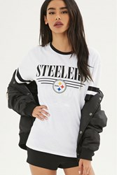 Forever 21 Nfl Steelers Ringer Tee White Black