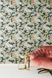 Dwellstudio Dragon Wallpaper Navy