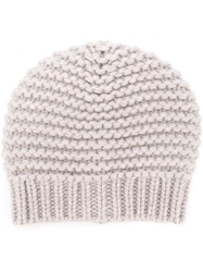 Brunello Cucinelli Knitted Beanie White