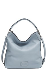 Marc By Marc Jacobs 'New Too Hot To Handle' Leather Hobo Blue Ice Blue