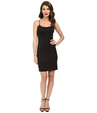 Unique Vintage Short Stretch Slip Black Women's Dress