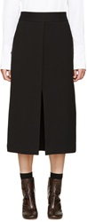 Rosetta Getty Black Foldover Panel Skirt