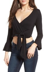 Sun And Shadow Women's Tie Front Wrap Top