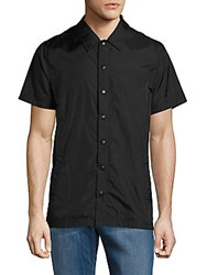 Publish Solid Point Collar Shirt Black