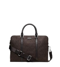 Michael Kors Jet Set Logo Briefcase Brown