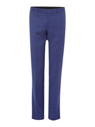 Kenneth Cole Julian Slim Fit Pindot Suit Trouser Navy