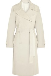 Donna Karan Oversized Suede Trench Coat Nude