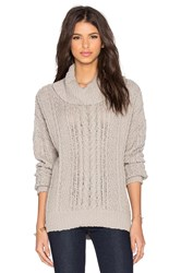 Three Dots Naomi Turtleneck Beige