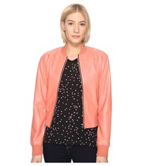 Paul Smith Leather Bomber Coral