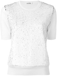 Jil Sander Textured Panel Shortsleeved T Shirt Nude Neutrals