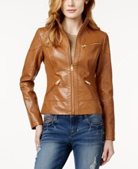 Guess Faux Leather Bomber Jacket