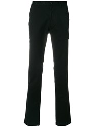 Michael Kors Straight Leg Trousers Cotton Spandex Elastane Black