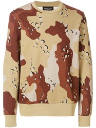Christopher Raeburn Choc Chip Print Sweatshirt Brown