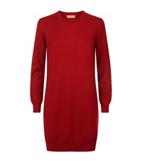 Burberry Knitted Wool Dress Female Red