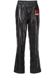 History Repeats Patch Straight Leg Trousers Black