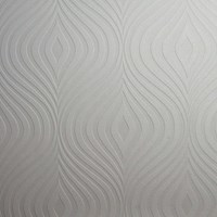 Graham And Brown Curvy Paintable Wallpaper White