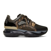Black And Brown 'Forever Fendi' Sneakers
