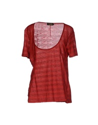 Diesel Black Gold T Shirts Brick Red
