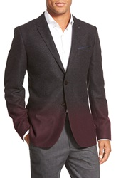 Ted Baker 'Henders' Slim Fit Ombre Sport Coat Charcoal