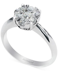 Effy Collection Effy Diamond Halo Ring In 14K White Gold 3 5 Ct. T.W.