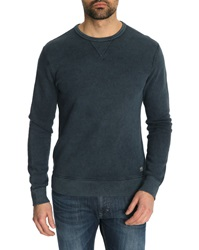 Denim And Supply Ralph Lauren Inside Out Grey Blue Sweater