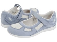 Drew Shoe Delite Sky Blue Nubuck White Mesh Women's Maryjane Shoes
