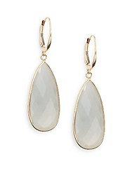Saks Fifth Avenue Small Grey Moonstone And 14K Yellow Gold Teardrop Earrings