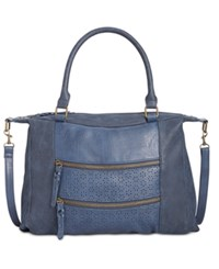 Styleandco. Style Co. Airyell Daisy Perforated Satchel Only At Macy's Navy