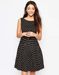 Emily And Fin Emily And Fin Abigail Dress In Polka Dot Print Black