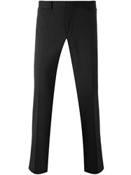 Z Zegna Slim Fit Tailored Trousers Grey