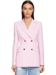 Ermanno Scervino Double Breasted Cady Jacket Pink