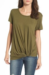 Women's Bp. Twist Front Tee Olive Dark