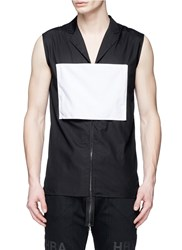 Hood By Air 'Executor' Patch Back Poplin Vest Black