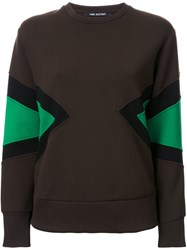 Neil Barrett Colour Block Sweatshirt Green