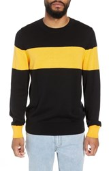 The Rail Rugby Stripe Sweater Black Yellow Rugby Stripe