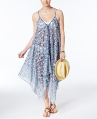 Jessica Simpson Patched Up Cover Up Dress Women's Swimsuit Periwinkle Multi