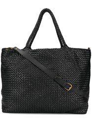 Officine Creative Woven Large Tote Black