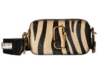 Marc Jacobs Snapshot Zebra Small Camera Bag Camel Multi Handbags Beige