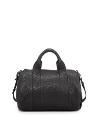 Alexander Wang Rocco Stud Bottom Satchel Bag Black Nickel