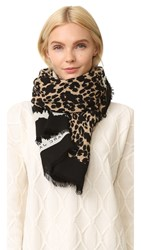 Marc Jacobs Dotted Leopard Stole Scarf Bone Multi