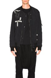 11 By Boris Bidjan Saberi Printed Bomber Jacket In Black