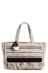 Amuse Society Carried Away Woven Weekend Tote Black Black Sands