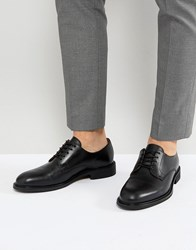 Selected Homme Leather Derby Shoes Black