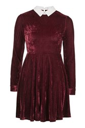 Oh My Love Collared Skater Dress By Burgundy