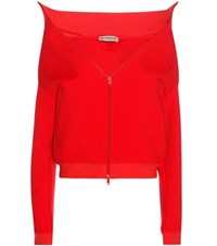 Balenciaga Swing Drop Shoulder Jacket Red