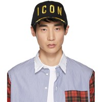 Dsquared2 Black And Gold 'Icon' Baseball Cap